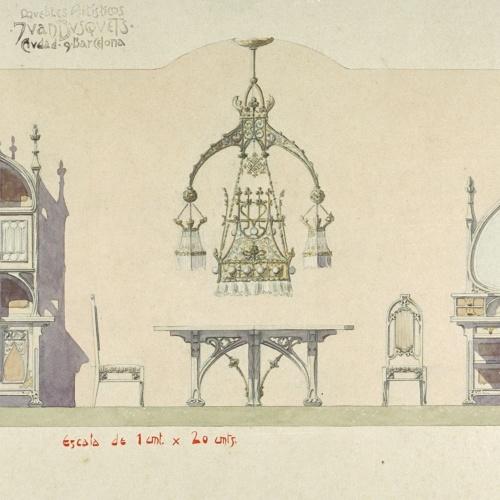 Joan Busquets - Menjador de la casa Berenguer de Barcelona - 1908
