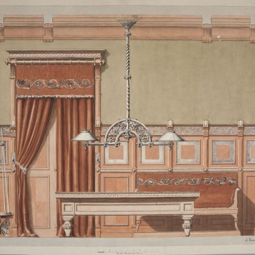 Joan Busquets - Billiard room - 1895