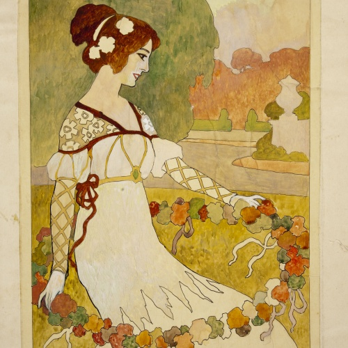 Joan Busquets - Marquetry panel - Between 1903-1907