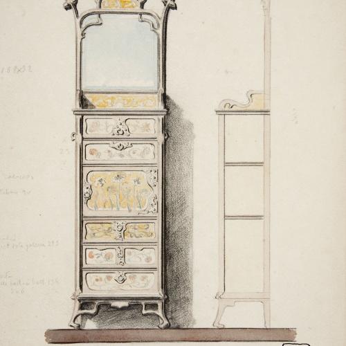 Joan Busquets - Canterano amb mirall - 1899