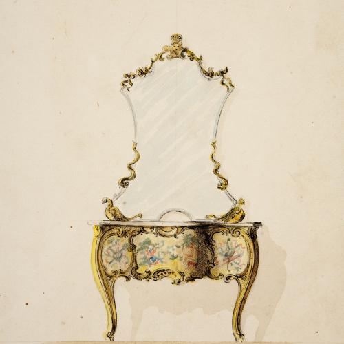 Joan Busquets - Consola amb mirall - 1895