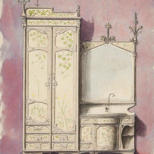 Joan Busquets - Armari i lavabo per al senyor Torres Vendrell - 1898