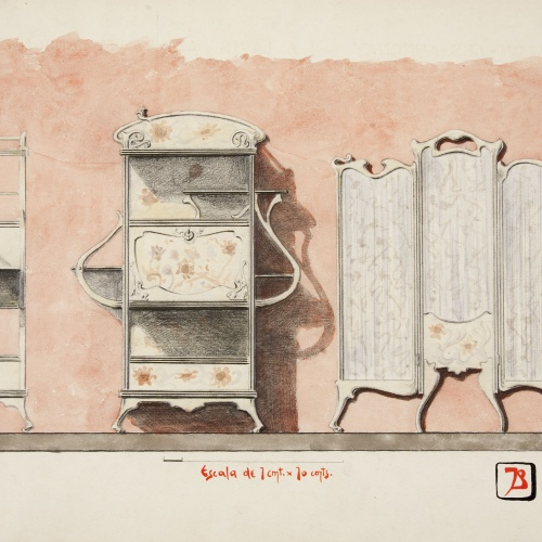 Joan Busquets - Paravent i canterano - 1899