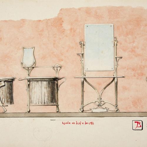 Joan Busquets - Mobiliari per a lavabo - 1899