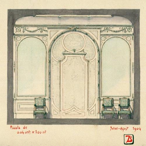 Joan Busquets - Mobiliari i ornamentació per a un saló - 1904