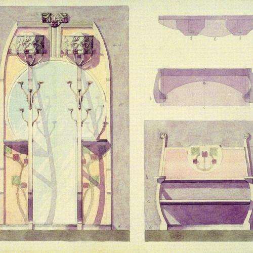 Joan Busquets - Penja-robes i banc - 1904