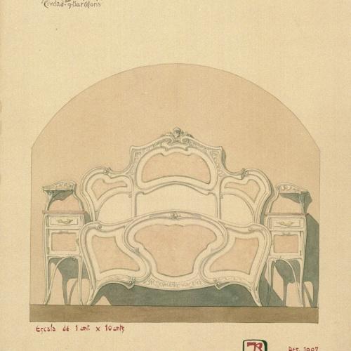 Joan Busquets - Llit i tauleta de nit - 1907