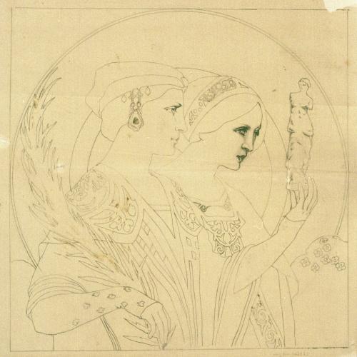Joan Busquets - Estudi de figures femenines - 1907