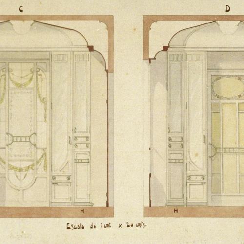 Joan Busquets - Armaris vidriera - 1908