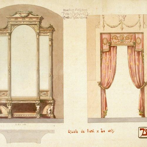 Joan Busquets - Armari i cortinatge - 1908
