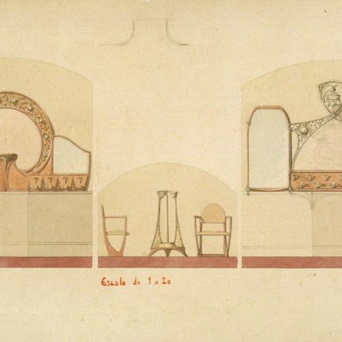 Joan Busquets - Penjadors, paraigüer i butaques - 1908