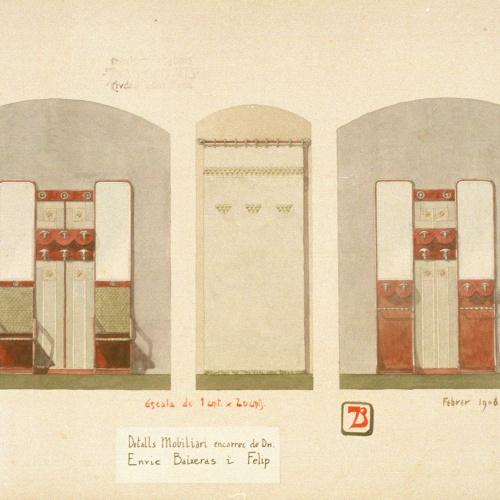 Joan Busquets - Penjadors i cortinatge per a Enric Baixeras i Felip - 1908