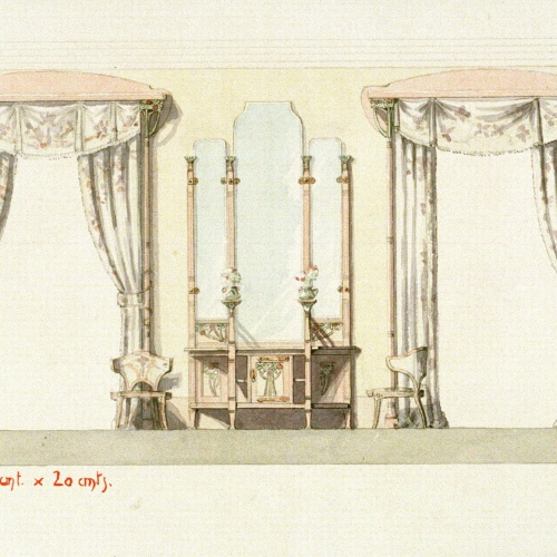 Joan Busquets - Cortinatges, consola i cadires - 1903