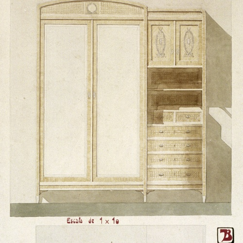 Joan Busquets - Cupboard with bureau - 1911