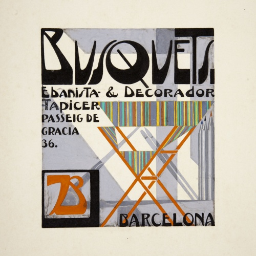 Joan Busquets - Design for a visiting card: 'Busquets ebanista & decorador' - Circa 1925-1930