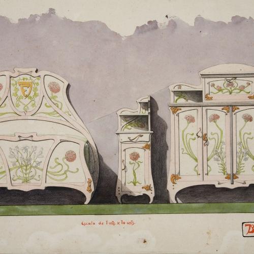 Joan Busquets - Dormitori per al matrimoni Busquets-Guindulain - 1900