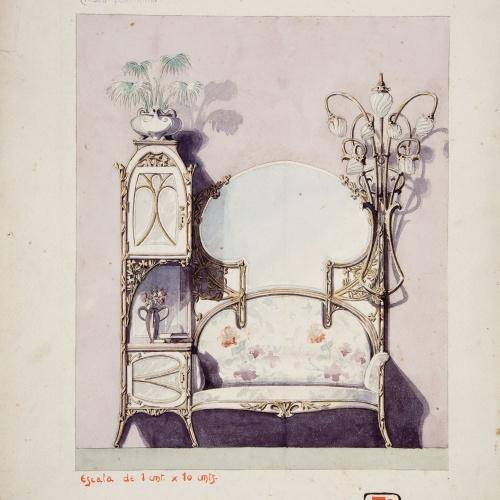 Joan Busquets - Moble de rebedor - 1903