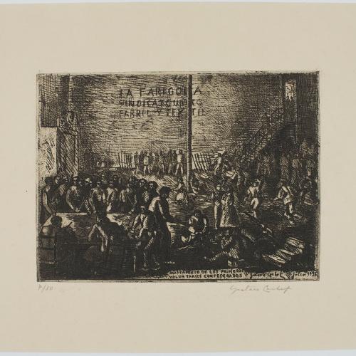 Gustavo Cochet - «Alistamiento de los primeros voluntarios confederados» - 1936
