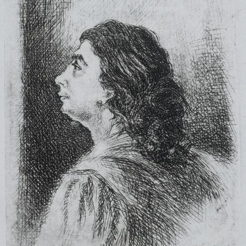 Gustavo Cochet - Bust masculí de perfil - 1952