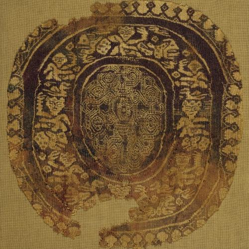 Anònim - Fragment de teixit copte amb «Orbiculus» - Egipte, segles X-XI