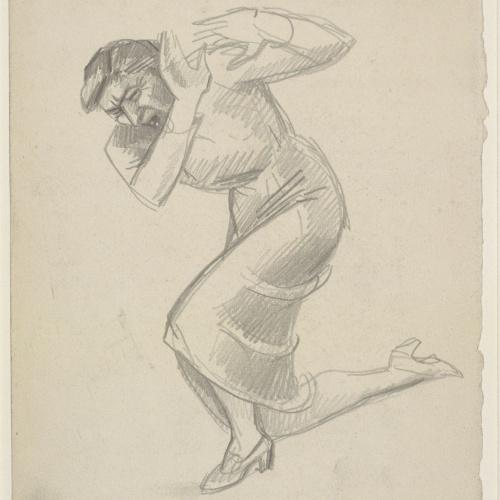 Juli González - Femme affligé à genoux Nº 2 (Dona espantada, de genolls, núm. 2) - Cap a 1941