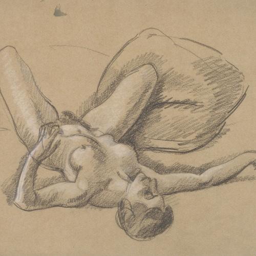 Juli González - Nu gitat amb gran coixí (Nu couché au grand coussin) - Cap a 1914-1918