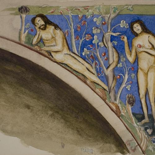 Lluís Domènech i Montaner - Còpia de les pintures de Sixena: Pecat Original - 1918