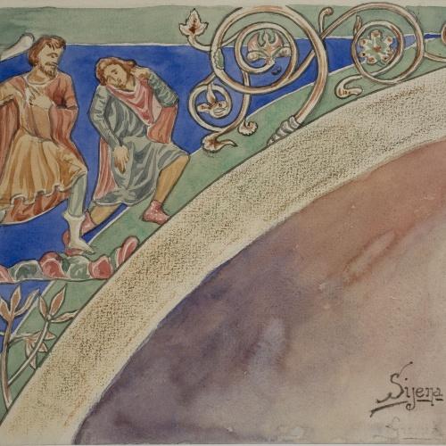 Lluís Domènech i Montaner - Còpia de les pintures de Sixena: El fraticidi - 1918