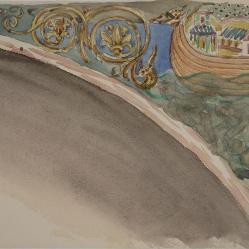 Lluís Domènech i Montaner - Còpia de les pintures de Sixena: Retorn del colom després del diluvi - 1918