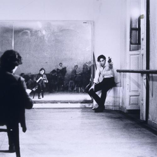 Colita - Antonio Gades, ensayo en la Academia de Juan de Dios - Barcelona, 1965