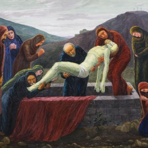 Marià Pidelaserra - Vida de Jesús XXII: Enterrament de Jesús - 1941