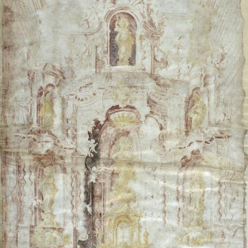 Jacint Morató Soler - Primer projecte del retaule major de Santa Maria d'Igualada - 1704