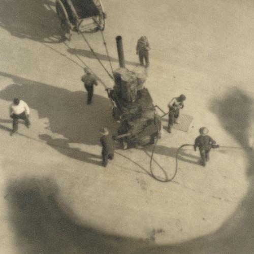 Joan Porqueras - Les goudronneurs (Els asfaltadors) - 1931
