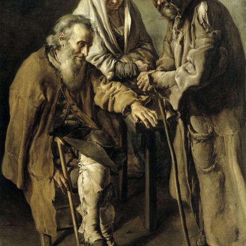 "Giacomo Ceruti dit ""Il Pitocchetto"" - Tres captaires - 1736"