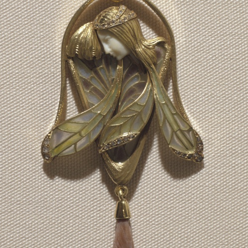 Lluís Masriera - Pendant with winged nymph - Circa 1906-1908
