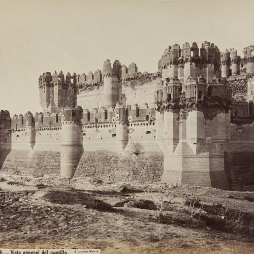 Jean Laurent - Coca (Segovia). Vista general del castillo - Circa 1865