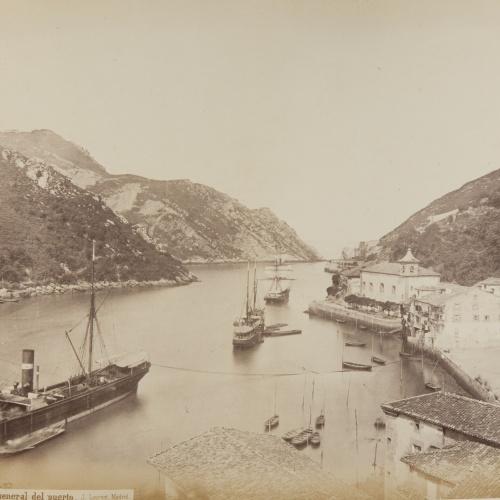 Jean Laurent - Pasajes. Vista general del puerto - Circa 1865