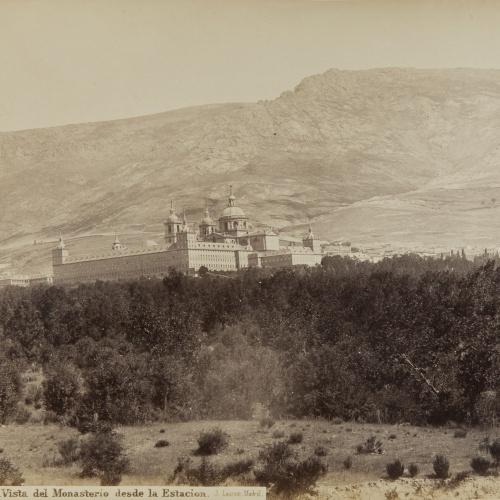 Jean Laurent - Escorial. Vista del Monasterio desde la Estacion - Circa 1865