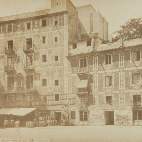 Jean Laurent - Barcelona. Casa particular del siglo XVIII - Circa 1865