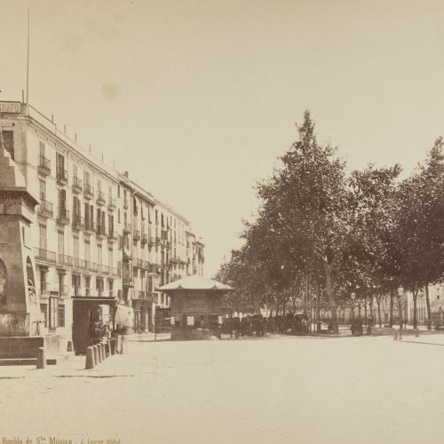 Jean Laurent - Barcelona. Rambla de Sta. Mónica - Circa 1865