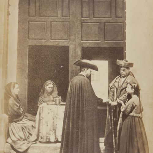 Jean Laurent - La porte d'une Église (d'après nature) (Córdoba)  - Circa 1865