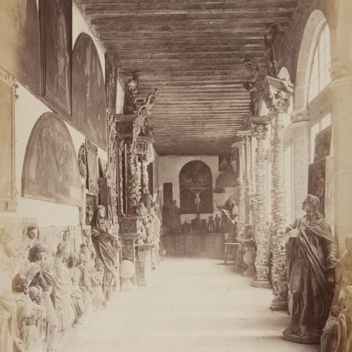 Jean Laurent - Valladolid. Vista interior del Museo - Circa 1865