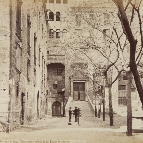 Jean Laurent - Barcelona. Convento de Santa Clara, antiguo palacio de los Reyes de Aragon - Circa 1865