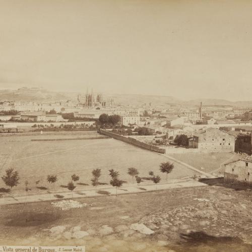 Jean Laurent - Burgos. Vista general de Burgos - Circa 1865