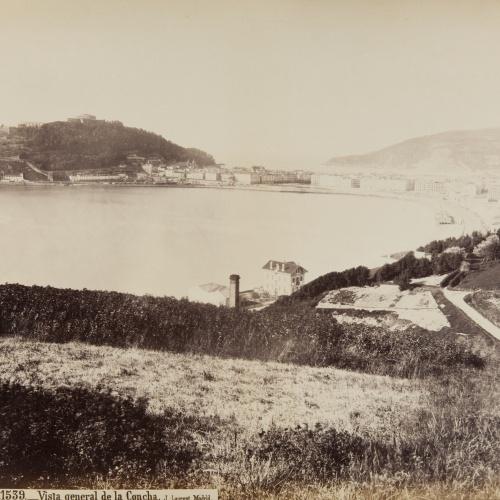 Jean Laurent - San Sebastian. Vista general de La Concha - Circa 1865