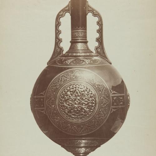 Jean Laurent - Vase en fer damasquiné (de propieté particulière) oeuvre de Mr. Zuloaga - 1865