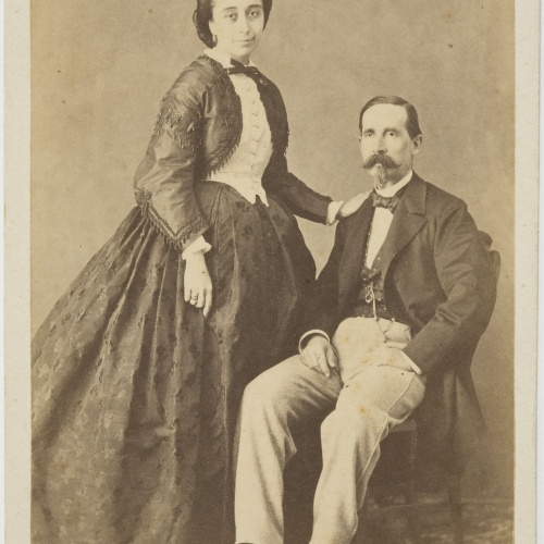 Pedro Martínez de Hebert - Portrait of a man and a woman - Circa 1860