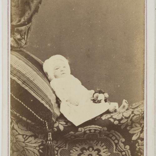 Joan Martí  - Portrait of a newborn baby - Circa 1860