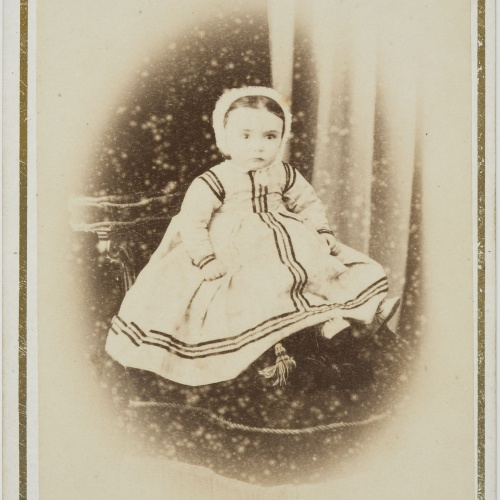 Napoleón. Establecimiento de daguerrotipo y fotografía. Barcelona - Portrait of a little child - Circa 1860