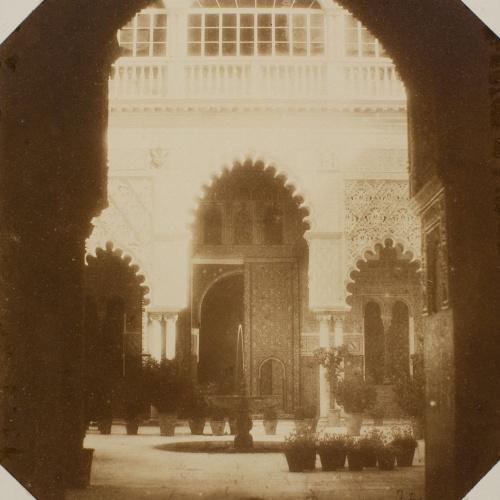 Joaquim Pedrosa - Alcázar de Sevilla. Claustro del patio de las doncellas - 1857